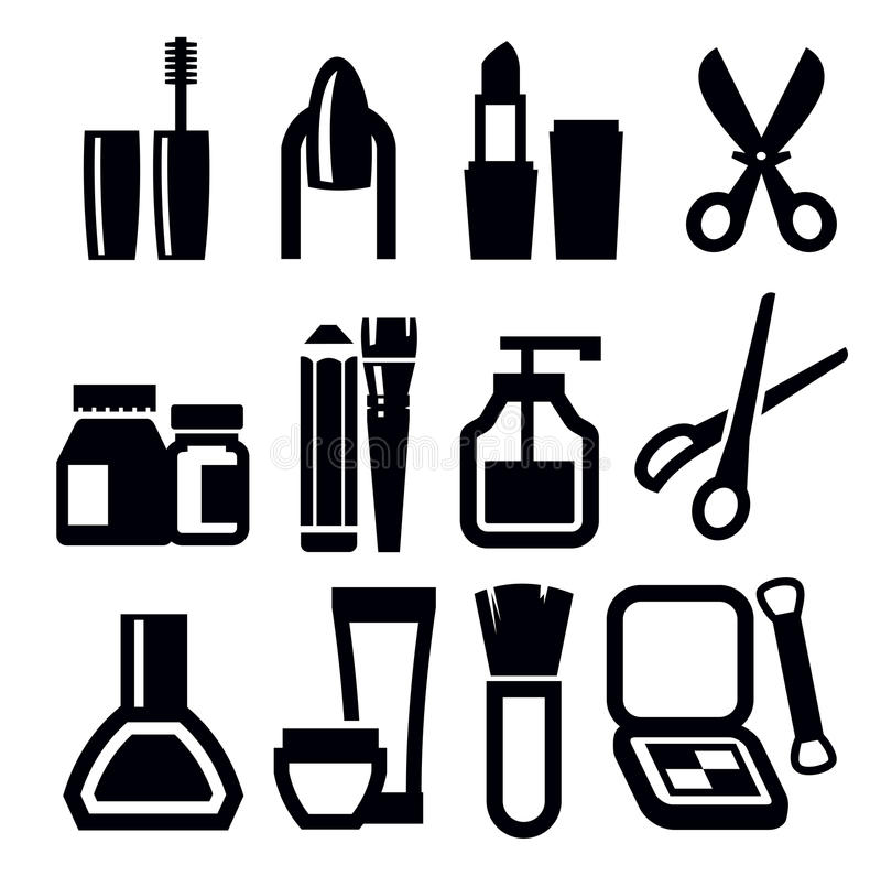 Make-up icons vector illustration