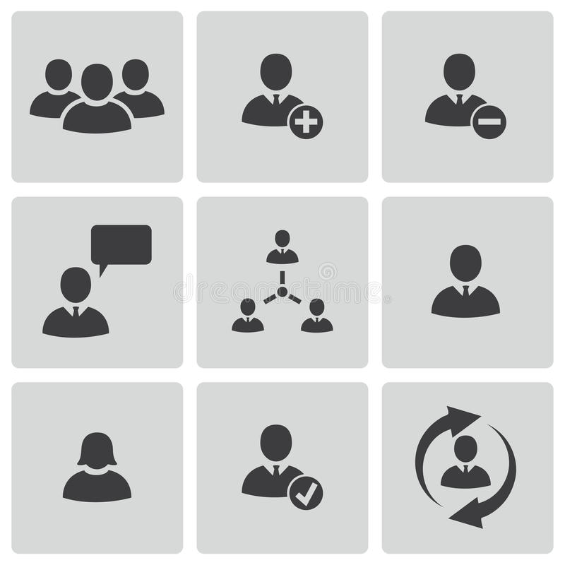 Free Vector Black Office People Icons Set Royalty Free Stock Image - 35255966