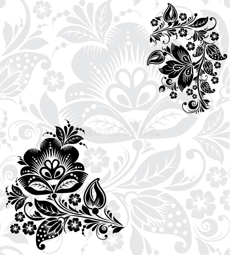 Free Vector Black Silhouette Of Flower Stock Photos - 39217893