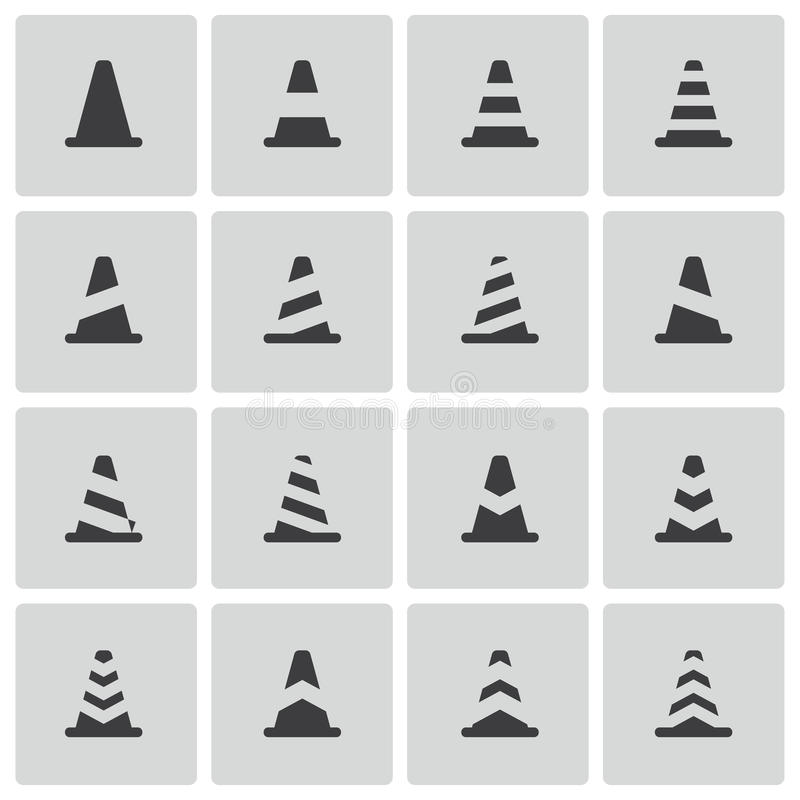 Download Vector Black Traffic Cone   Icons Royalty Free Stock Photos - Image: 34496398