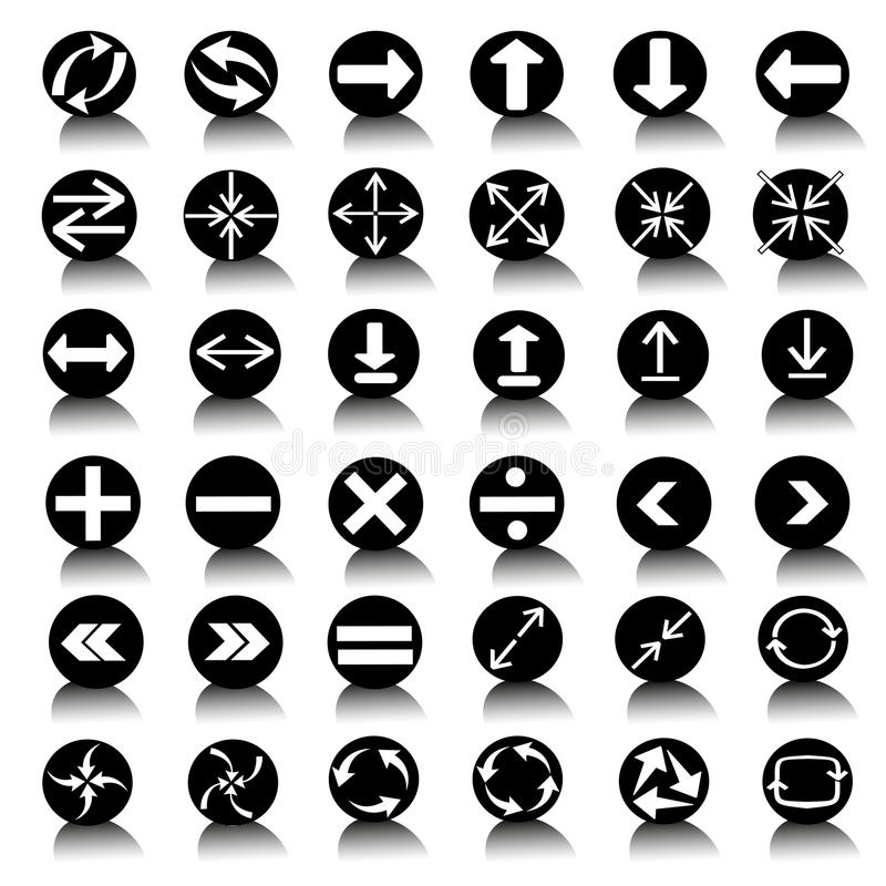 Vector black universal web icons set vector illustration