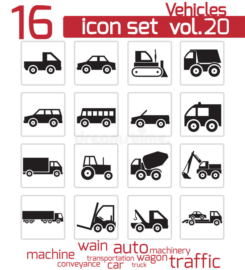 Download Vector black vehicle icon stock illustration. Image of icon - 32396336