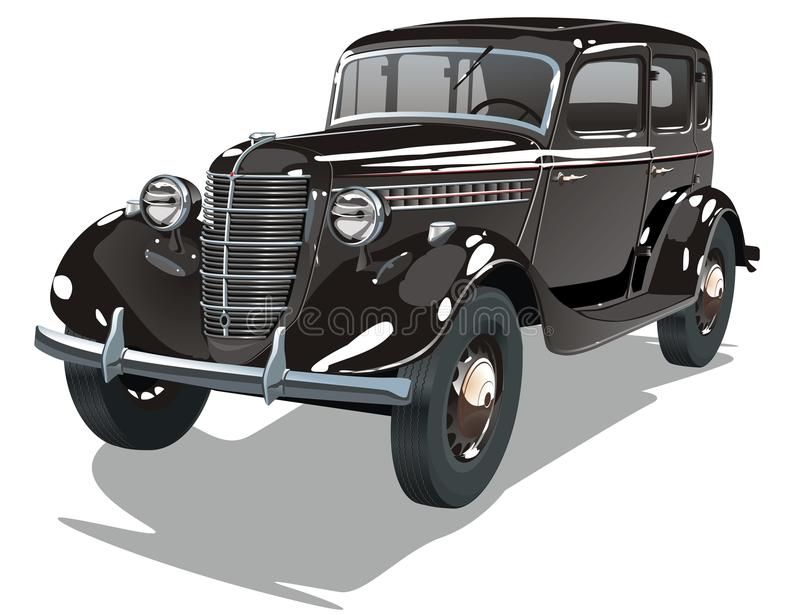 Download Vector Black Vintage Car Stock Image - Image: 11404201