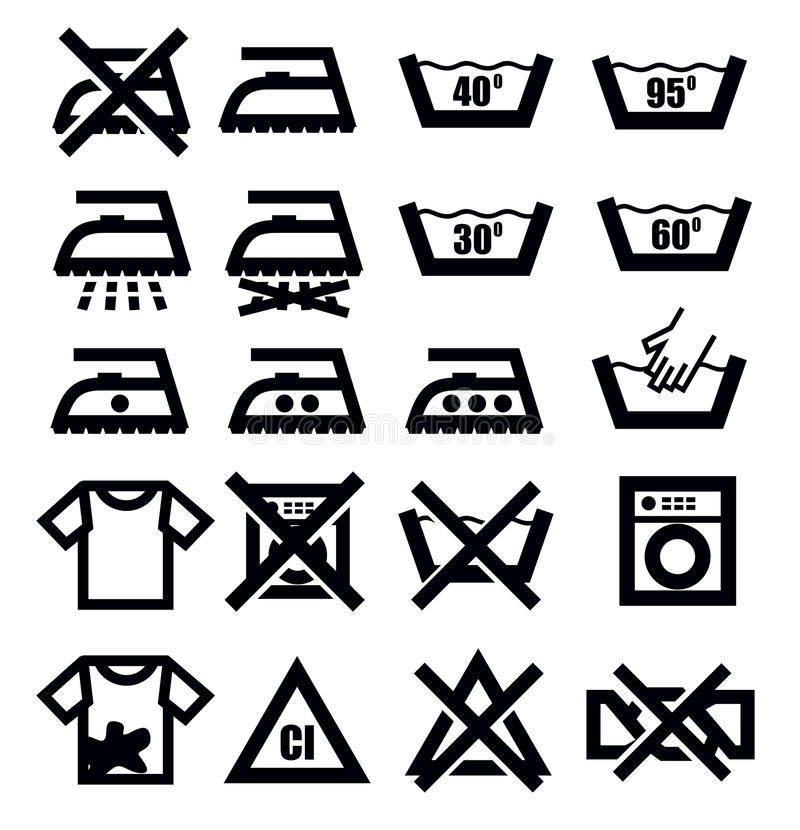 Download Washing signs and clothes stock vector. Image of cleaning - 30156272