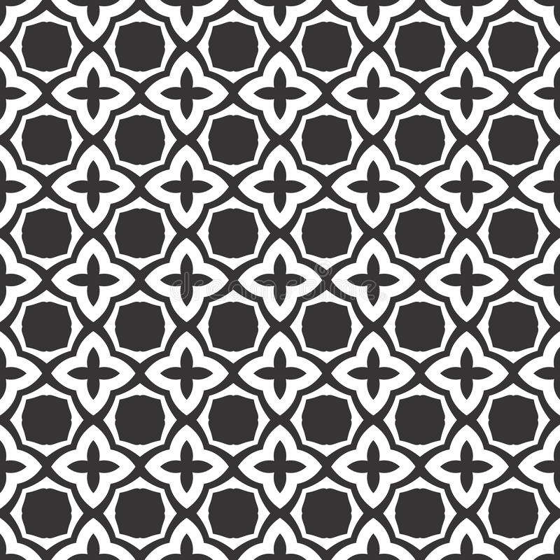 Vector Black and white abstract geometrical  floral design, seamless pattern or design vector illustration