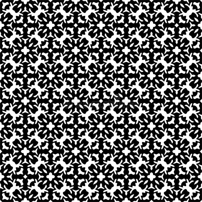 Vector Black White Design Geometric seamless. vector illustration