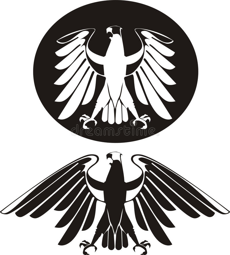 Download Vector black & white eagle stock vector. Image of decorative - 10547065