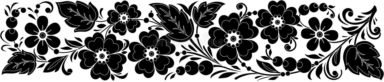 Download Vector Black-and-white Hohloma Stock Vector - Image: 12940209