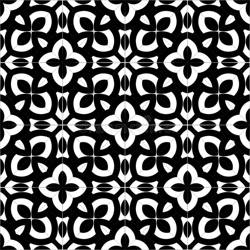 Vector BLACK WHITE SEAMLESS PATTERN DESIGN Stock Vector