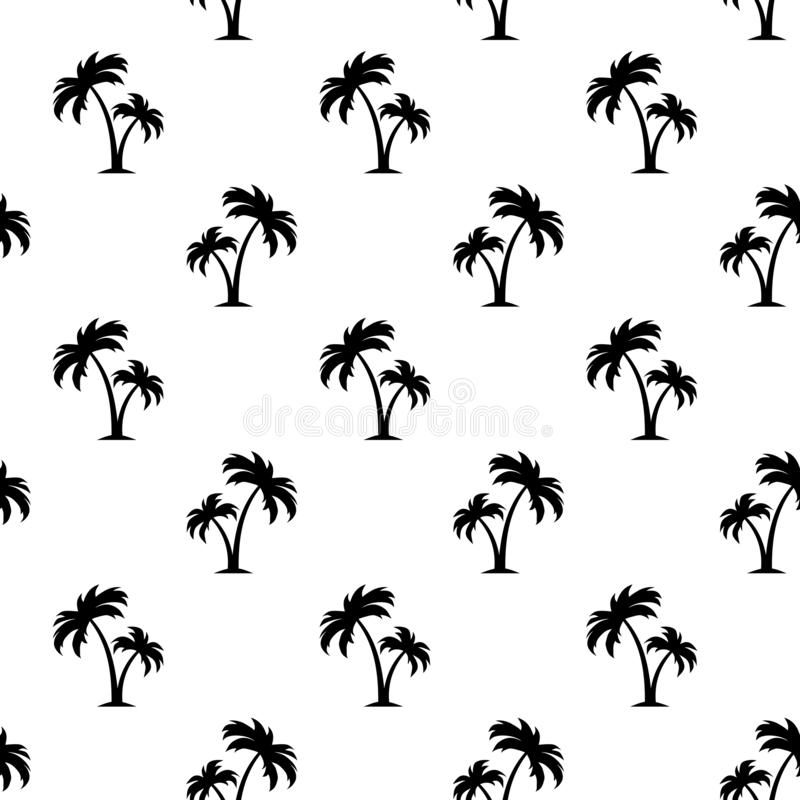 Seamless pattern with palm trees. Vector illustration. Vector black and white seamless pattern with palm trees royalty free illustration