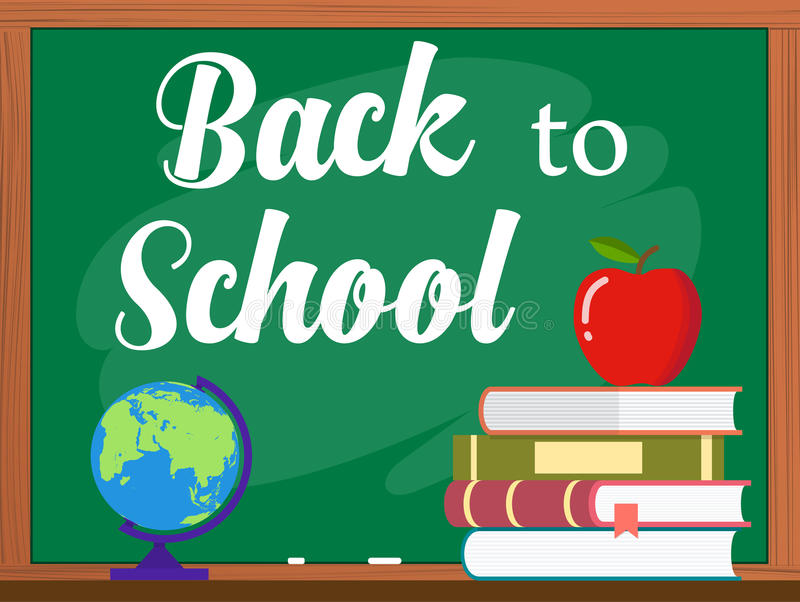 Vector blackboard and back to school concept stock illustration