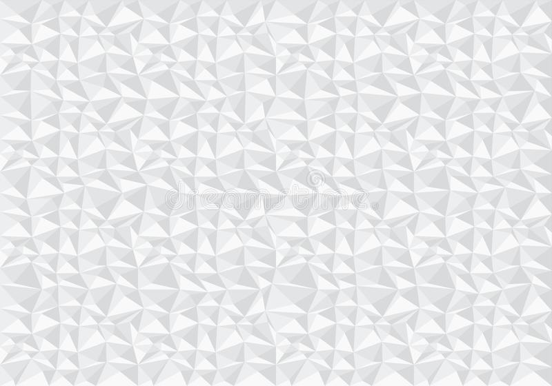Vector blanco abstracto de la textura del fondo del modelo del polígono stock de ilustración