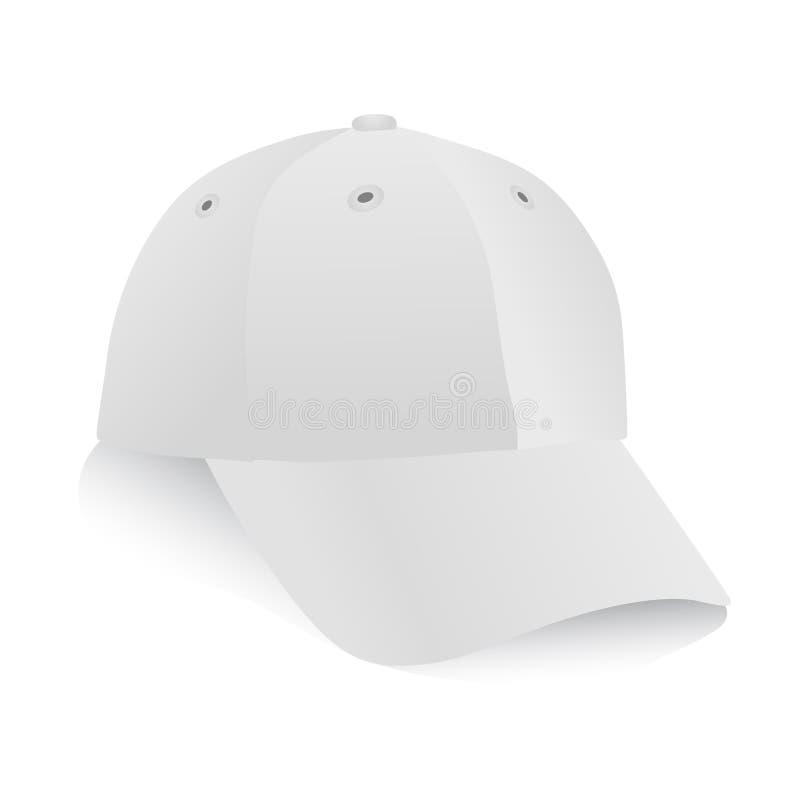 Vector blanco del casquillo ilustración del vector