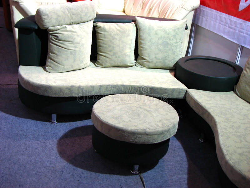 Vector blanco del n del sofá imagen de archivo libre de regalías