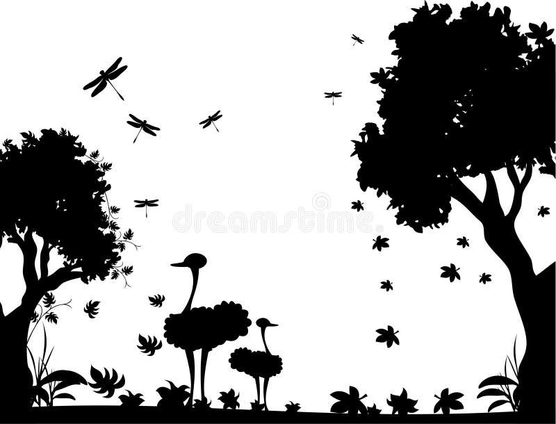 Vector Blanco Y Negro De La Naturaleza Ilustración Del