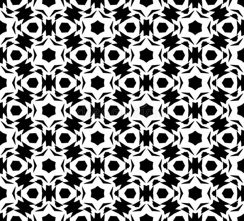 Vector blanco y negro del modelo de la repetición e imagen de fondo inconsútil ilustración del vector