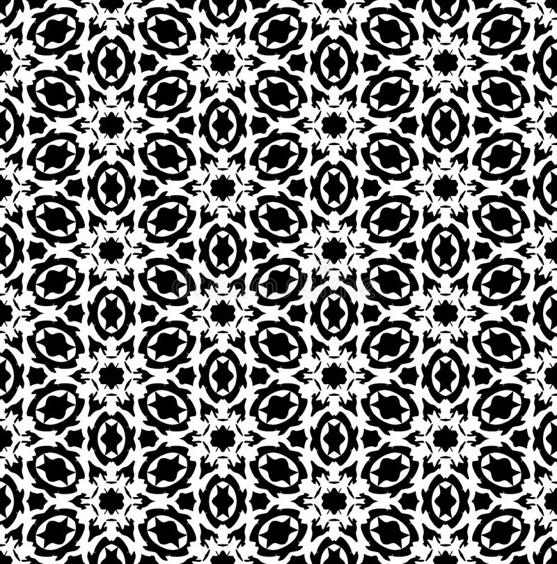 Vector blanco y negro del modelo de la repetición e imagen de fondo inconsútil libre illustration