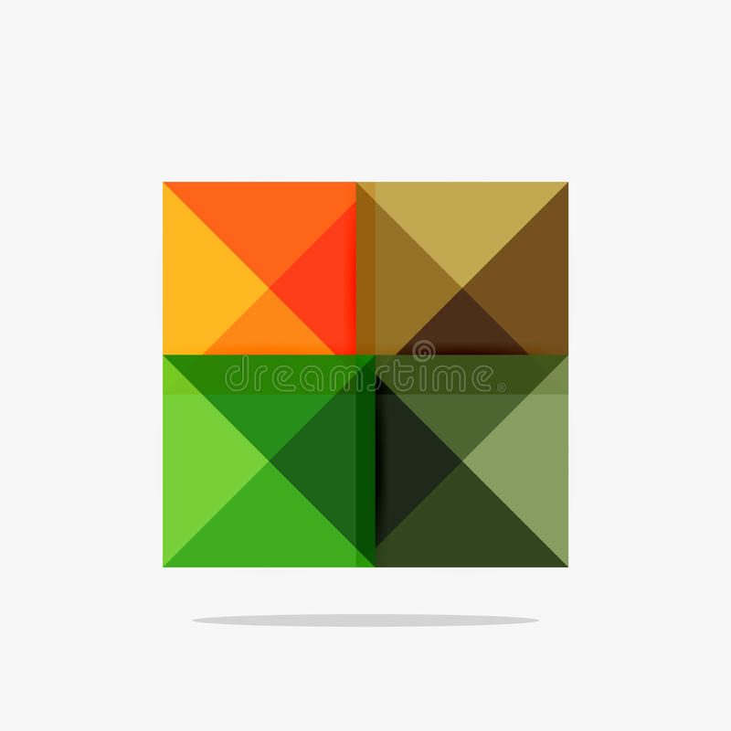 Vector blank abstract squares background royalty free illustration