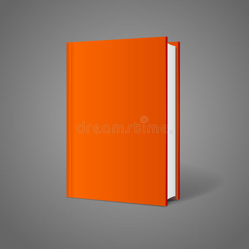 Blank Book Cover Vector Template ~ Vector blank book cover perspective orange stock