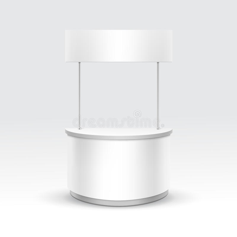 Blank Exhibition Stand Vector : Vector blank exhibition trade stand stock image