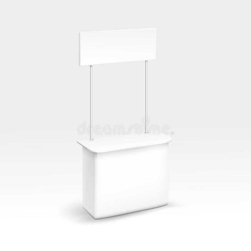 Vector Blank Exhibition Trade Stand stock illustration
