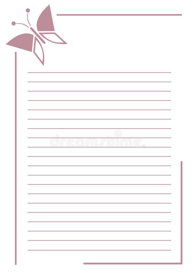 Vector Blank For Letter Or Greeting Card Pink Simple Form