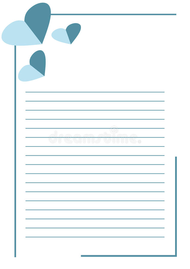 vector blank for letter or greeting card  white paper form