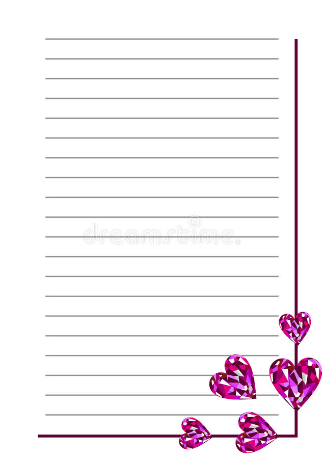 Vector Blank For Letter Or Greeting Card. White Paper Form With
