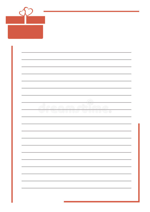 Vector Blank For Letter Greeting Card White Paper Form With