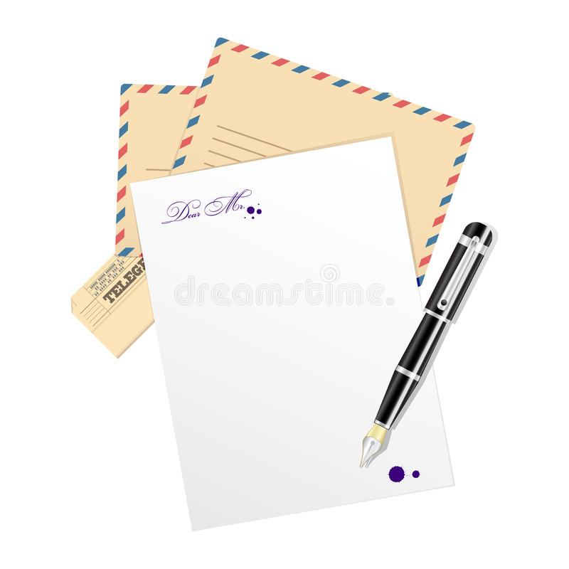 Vector blank, paper for message. royalty free illustration
