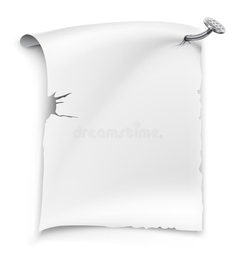 Vector blank paper sheet