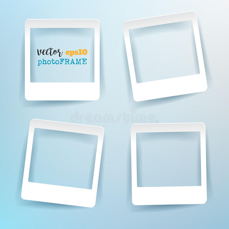 Vector Blank Photo Frames with empty space for your image. royalty free illustration