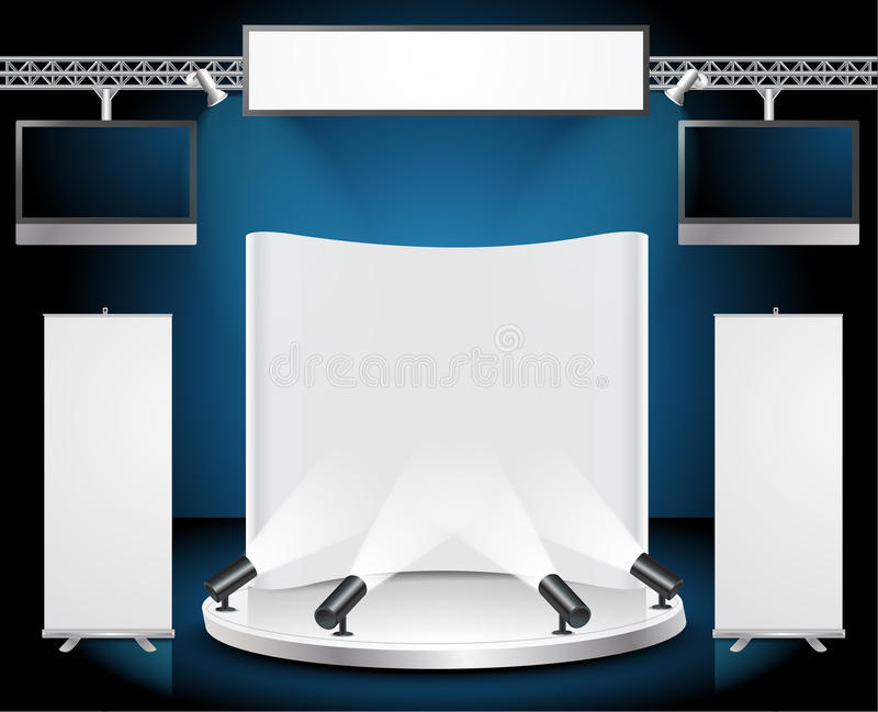 Vector Blank trade exhibition stand royalty free illustration