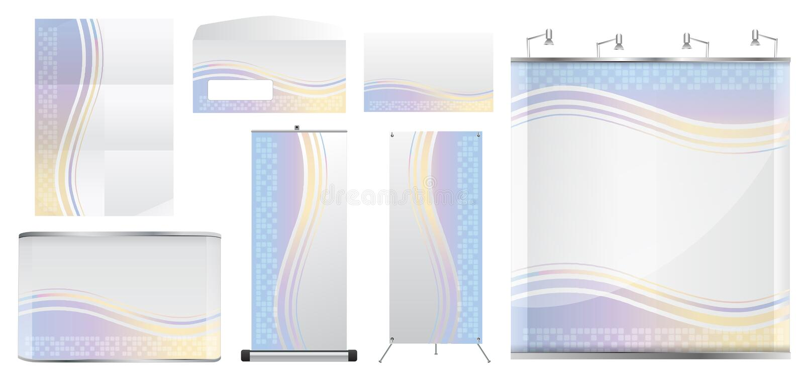 Download Vector Blank Trade Show Booth Stock Vector - Image: 24906202