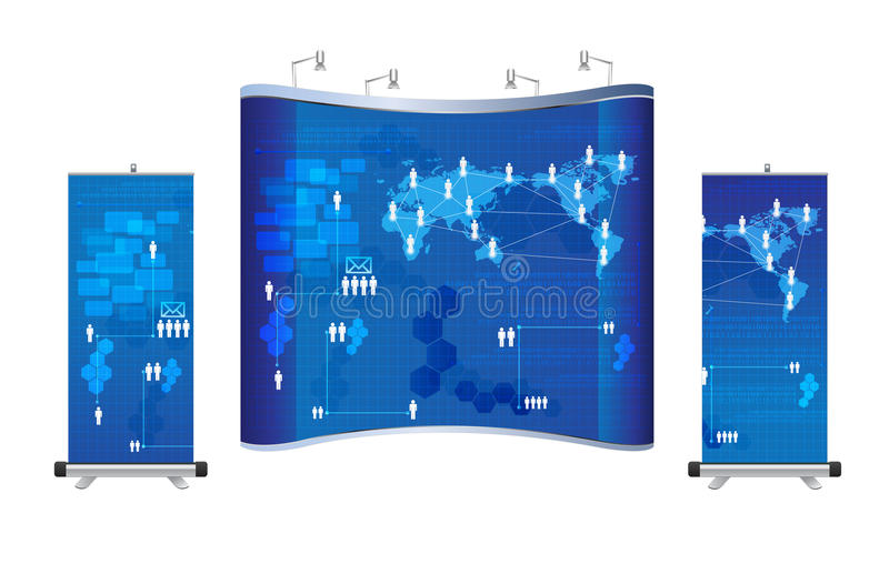 Exhibition Booth Vector Free Download : Vector blank trade show booth stock image