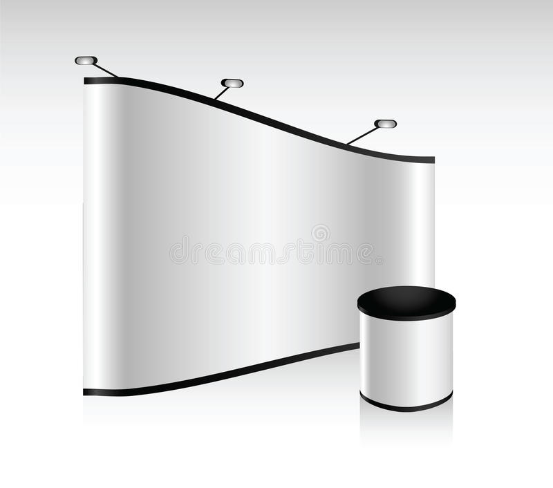 Vector blank trade show booth. For designers and advertising stock illustration