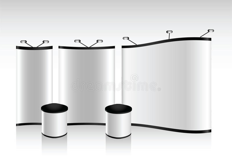 Vector blank trade show booth stock illustration