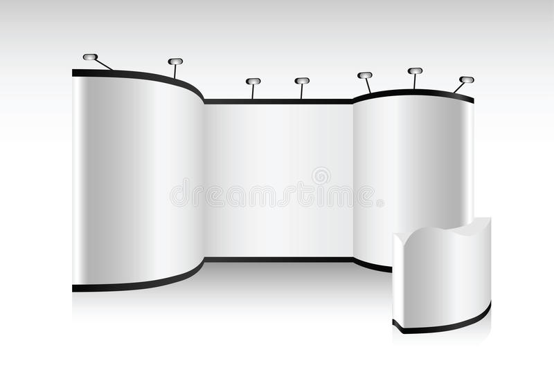 Exhibition Booth Vector Free Download : Vector blank trade show booth stock illustration