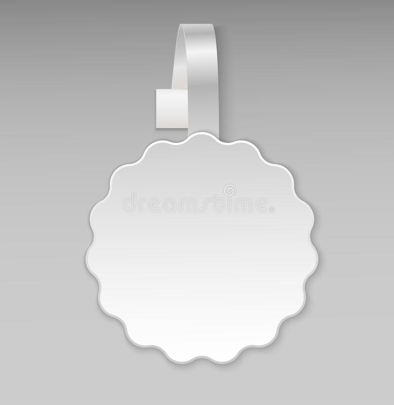Download vector blank white round shape paper plastic advertising shop price wobbler front view stickers