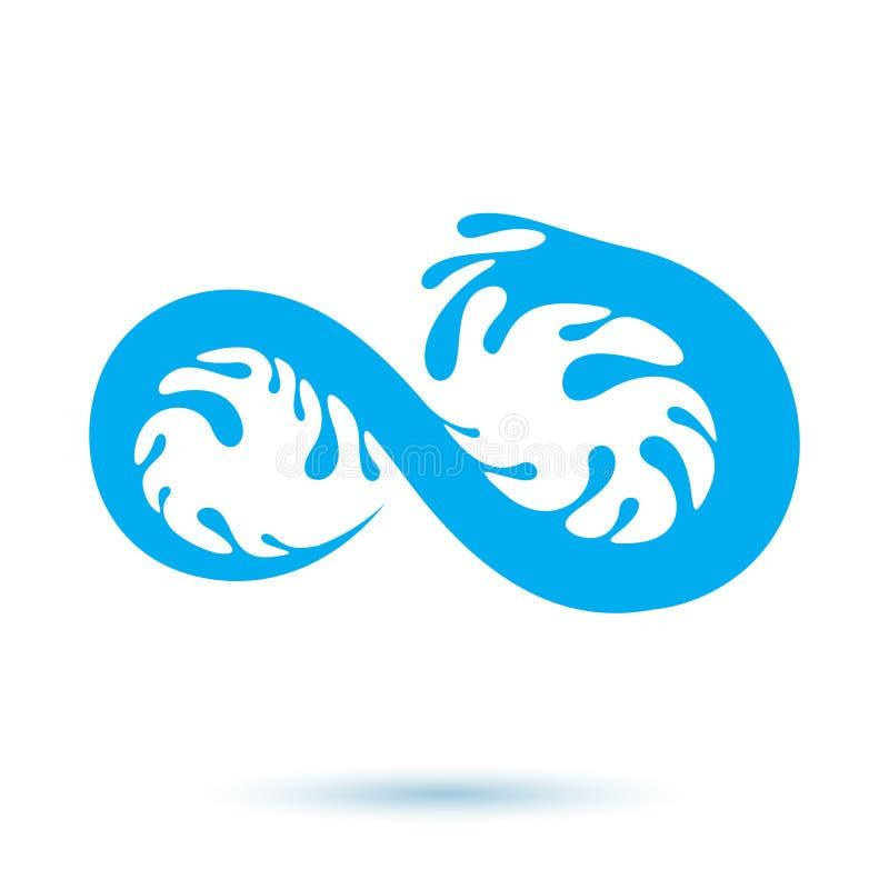 Vector blaue klare Wassertropfenikone für Gebrauch in Mineralwasser adver lizenzfreie abbildung