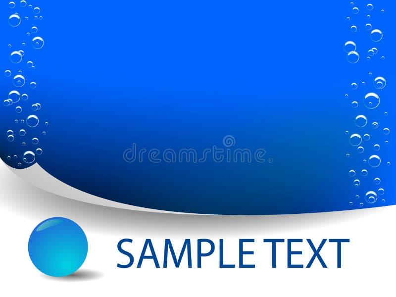 Vector blauw water