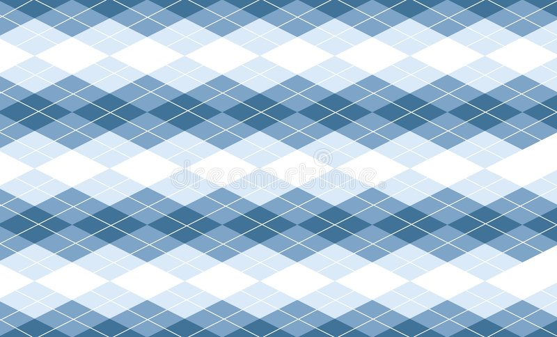 Vector Blauwe Achtergrond Argyle stock illustratie