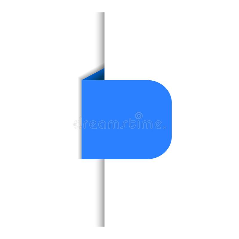 Vector Blauwe die Banner, Infographic-Ontwerpelement op Witte Achtergrond, Referentie, Document Rand wordt geïsoleerd royalty-vrije illustratie