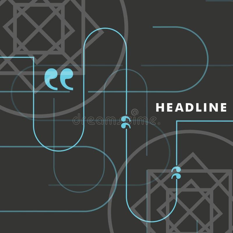 Vector blauwe lijnen op een mooie grijze achtergrond stock illustratie