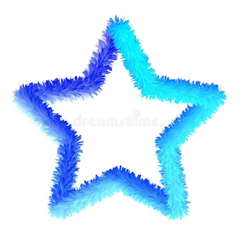 Vector blauwe ster stock illustratie