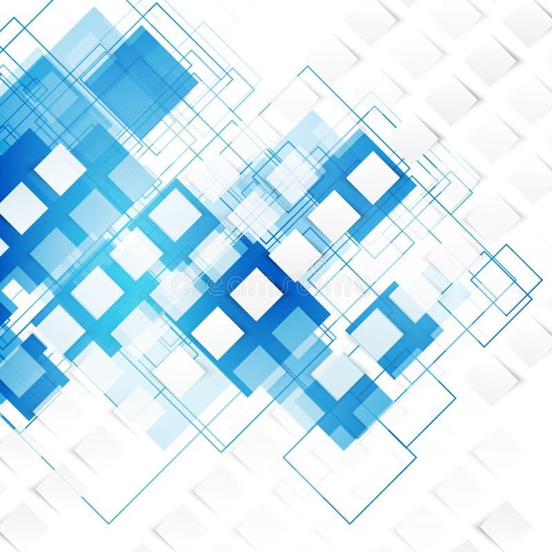 Vector blauwe vierkanten abstracte achtergrond royalty-vrije illustratie