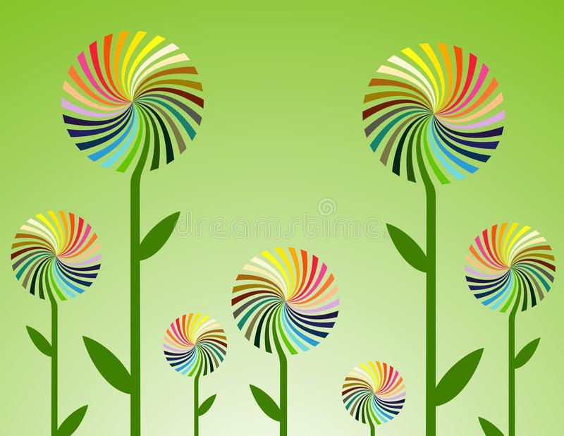 Vector bloemen stock afbeelding