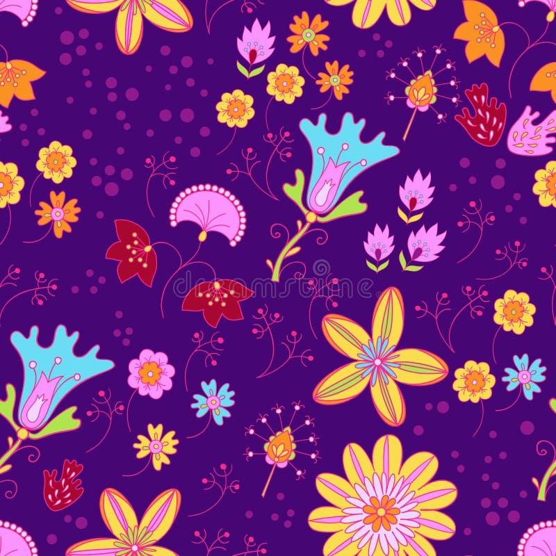 Vector bloemen de zomerpatroon in graphycstijl royalty-vrije illustratie