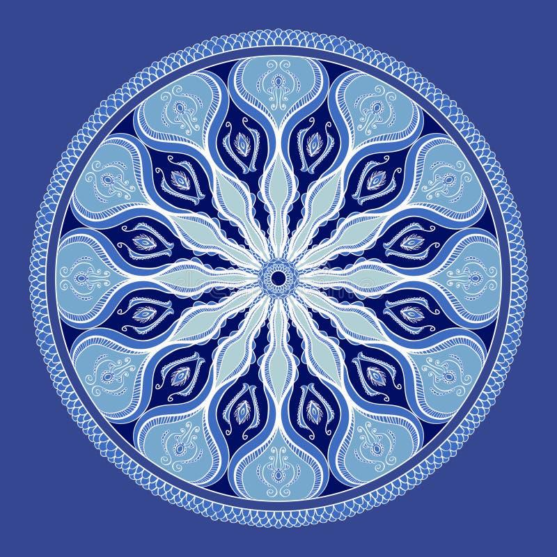 Vector bloemen kleurrijke mandala mooi ontwerpelement in etnische stijl indische arabische - Etnische pouf ...