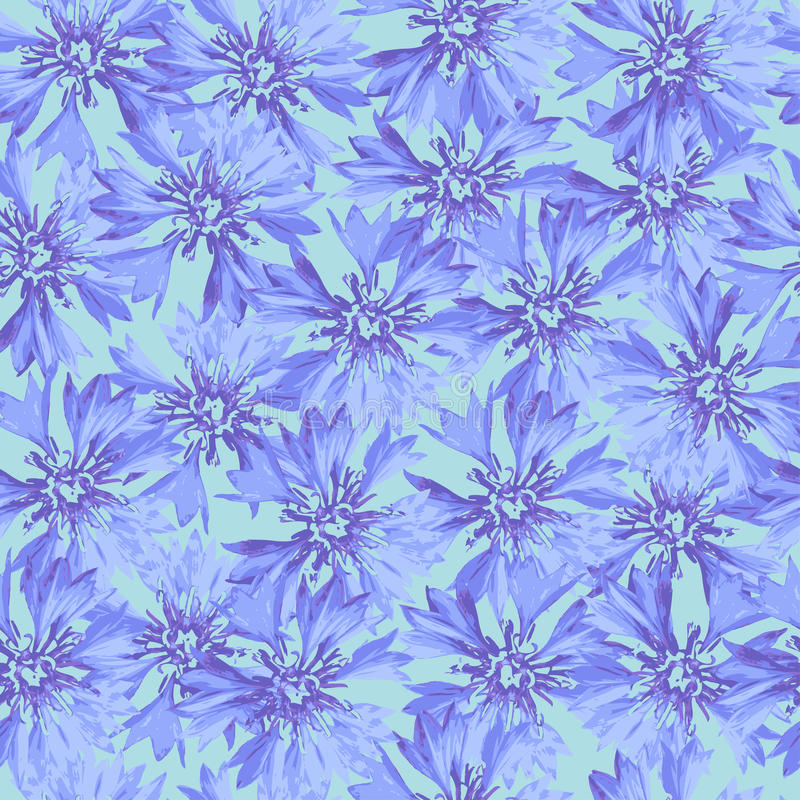Vector bloemen naadloos patroon stock illustratie